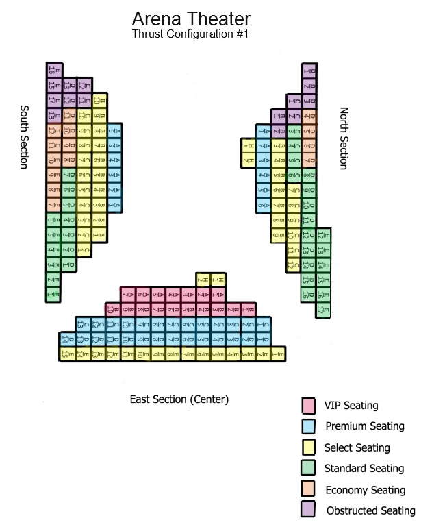 Stages Repertory Theatre Arena Theater Seat Map